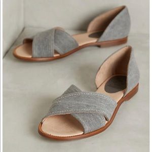 Anthropologie KMB Elixir D'orsay Gray Sandals